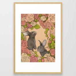 Rosie Rabbits Framed Art Print