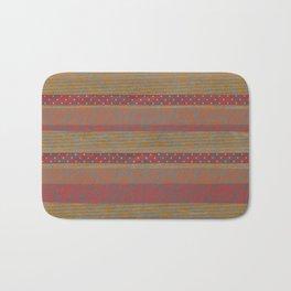 Cozy Autumn Stripes Bath Mat