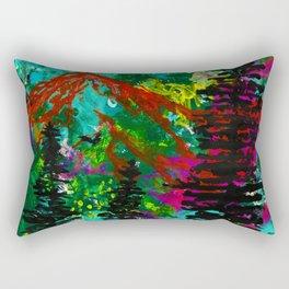 Go Wild - Mountain - Abstract painting Rectangular Pillow