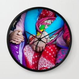 SACRED GLOBAL HANDS NEPAL Wall Clock