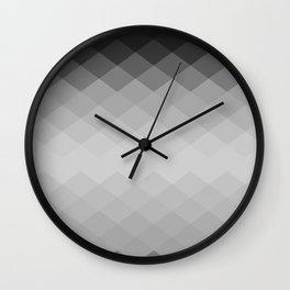 Black and white rhombs pattern Wall Clock