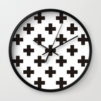 positive Wall Clocks featuring Positive by Small Comforts