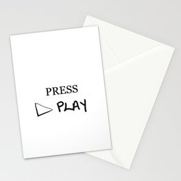 Press Play: White Stationery Cards