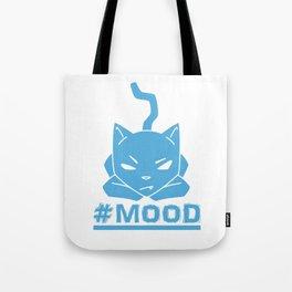 #MOOD Cat Blue Tote Bag