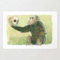 hamlet Art Prints featuring Hamlet by Marielle Lebrun