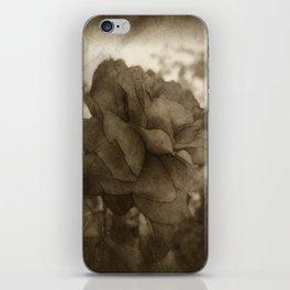 Red Rose Edges Antiqued iPhone Skin