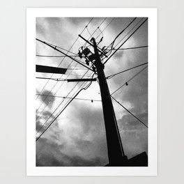 SKY + FIGURE Art Print