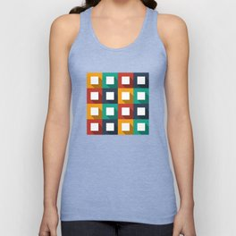 Flat design modern vector illustration background pattern with long shadow effect Unisex Tank Top
