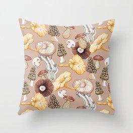 Mushroom Lovers Pattern Throw Pillow