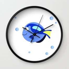Fish tank svg Printable wall art, Wall decal nursery, Nautical decor Wall Clock