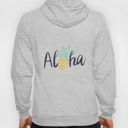 Aloha lettering and pineapple Hoody