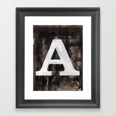 -A- Framed Art Print