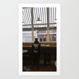 Coffee at Fallon and Byrne, Dublin Art Print