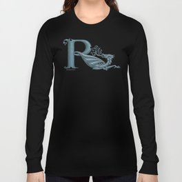 "Dragon Letter R, from ""Dracoserific"", a font full of Dragons Long Sleeve T-shirt"