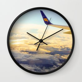 Plane Ride Wall Clock