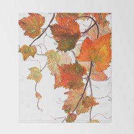 orange grapevine 2 Throw Blanket