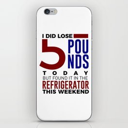 Funny Foodie Weight Loss Junk Food Lose Fat iPhone Skin