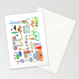 Colorful Seoul Stationery Cards