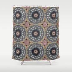 Bohemian Dream Sequence --Whimsical Vintage Textile Kaleidoscope Mandala Shower Curtain