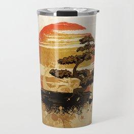 Bonsai Tree In The Sunset Travel Mug