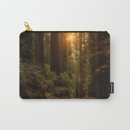 Sunrise in the Redwoods Carry-All Pouch