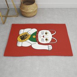 Maneki Neko - lucky cat - red Rug