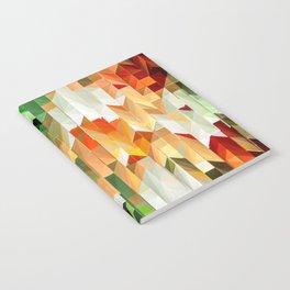 Geometric Tiled Orange Green Abstract Design Notebook
