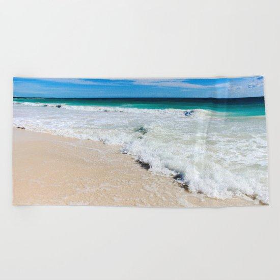 Tulum Waves Beach Towel