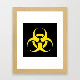 Hazard biologic warning signal design Framed Art Print