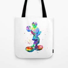 Mickey Mouse, watercolor Mickey Mouse Tote Bag