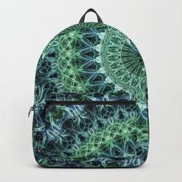 Cold blue and green mandala Backpack