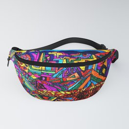 A Future Underground City Fanny Pack