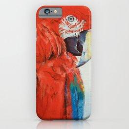 Crimson Macaw iPhone Case