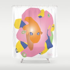 Creature 1 Shower Curtain