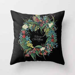 An Aussie Christmas BLACK Throw Pillow
