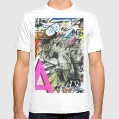 A is for Angel White Mens Fitted Tee MEDIUM