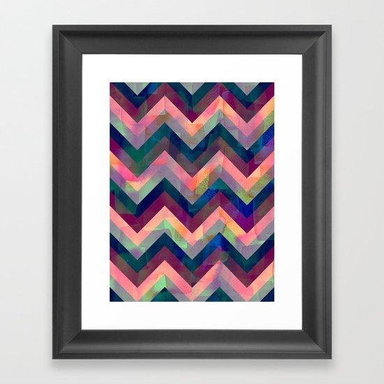 Painted Chevron Framed Art Print