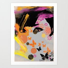 Audrey again Art Print