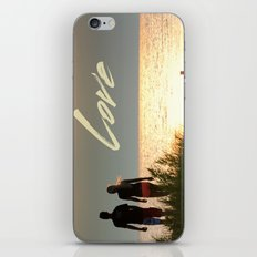 Love at Sunset iPhone & iPod Skin