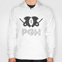pittsburgh Hoodies featuring Pittsburgh Football by John Trivelli