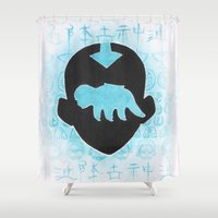 bender Shower Curtains featuring The Last Airbender by Carmen McCormick