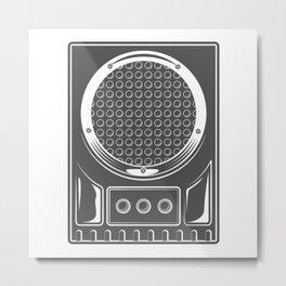 Vintage music concert audio loudspeaker in monochrome style illustration Metal Print