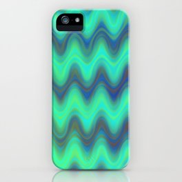 Agate Wave Blue - Mineral Series 001 iPhone Case