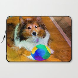Sheltie with Ball Laptop Sleeve