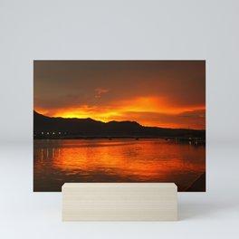 Sunset in Thailand Mini Art Print