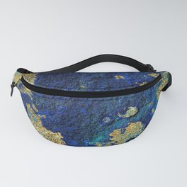 Indigo Teal and Gold Ocean Fanny Pack