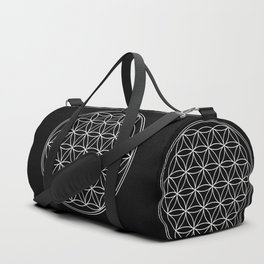Flower of life on black Duffle Bag