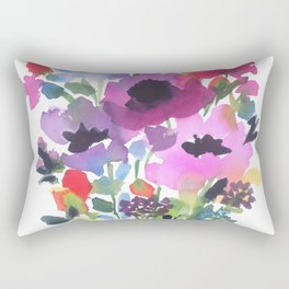 Little Poppy Bouquet Rectangular Pillow
