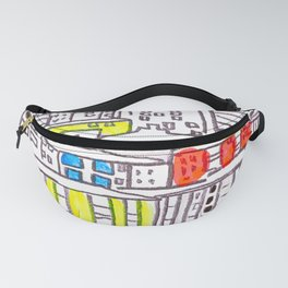 Suburb - city drawing Fanny Pack