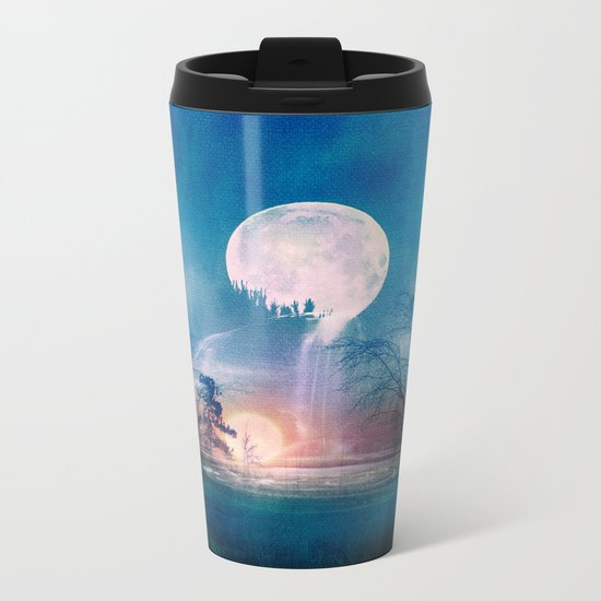 Moon Above, Sun Below Metal Travel Mug